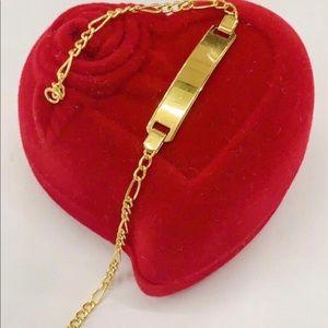 18k saudi gold baby bracelet